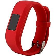 For Vivofit JR.2 Bands, Large Replacement Wristbands for Garmin vivofit JR2, Active Bright Colors Silicone Straps for Garmin vivofit jr. 2, Red