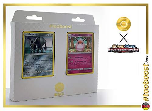Grodoudou (Wigglytuff) 72/111 Y Registeel 68/111 - #tooboost X Soleil & Lune 4 Invasion Carmin - Box de 10 Cartas Pokémon Francés + 1 Goodie Pokémon