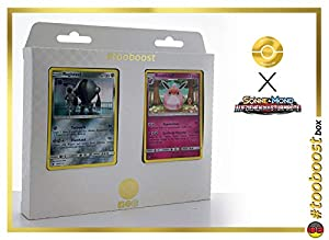 Knuddeluff (Wigglytuff) 72/111 Y Registeel 68/111 - #tooboost X Sonne & Mond 4 Aufziehen Der Sturmröte - Box de 10 Cartas Pokémon Aleman + 1 Goodie Pokémon