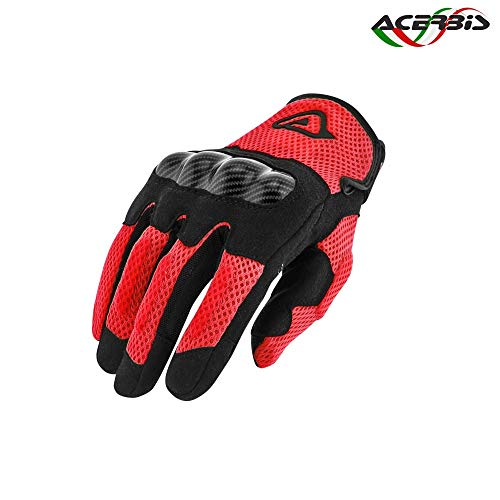 Acerbis 2235511 Guanti Ramsey My Vented M, Rosso, M