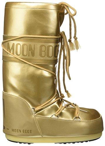 Moon Boot Unisex-Erwachsene Vinile Met Outdoor-/Sportschuhe Gold
