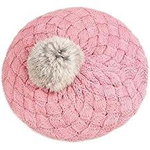 TOOGOO(R) Beanie Gorro de Invierno Caliente Croche Tejido para Bebes Ninos - Rosa