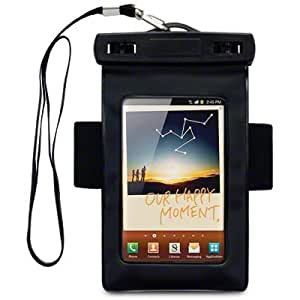 SAMSUNG GALAXY NOTE 2 ALL-WEATHER GEAR WATERPROOF SOFT CARRY CASE WITH ARMBAND BY CELLAPOD CASES BLACK