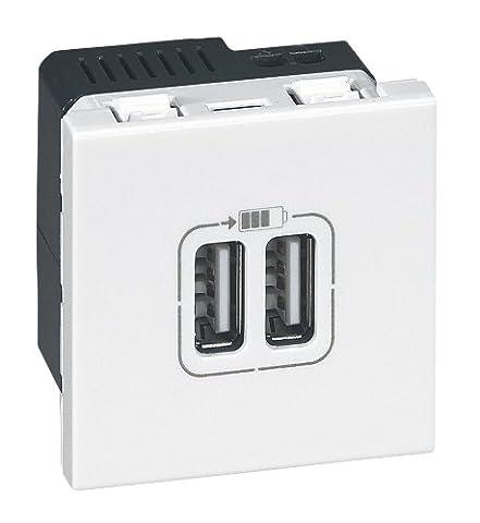 Legrand LEG99604 Prise chargeur 2 USB mosaïque modules enjoliveur