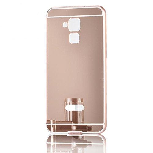 e Metal Frame Schutzhülle Aluminium Metallgehäuse, Spiegel Hülle Mirror Effect Tasche Case for Huawei Honor 7 Lite / Honor 5C 5.2