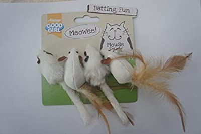 Good Girl Cat Toy Mice Pack Of 4 Meowee Mice For Cats And Kittens