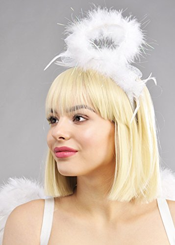 Weiße flauschige Halo Angel ()