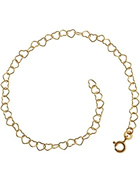 Kinder-Armband Herzen, Goldarmband - 333 Gold, Länge wählbar von 12-15cm