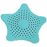 Hoverwings étoile à cinq branches Forme drain évier Passoire Attrape Cheveux Bouchon filtre cuisine fournitures de Salle de Bain, PVC (Bleu)