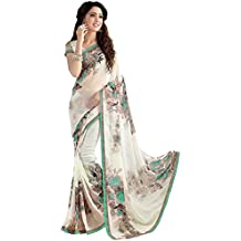 Indian Beauty Women's Georgette With Blouse Saree