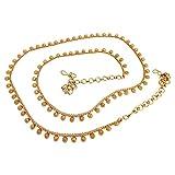 #6: Biyu Festive Collection Copper Floral Kamarband Saree Waist Belt for Women