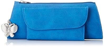 Butterflies Women's Clutch (Blue) (BNS 2106)