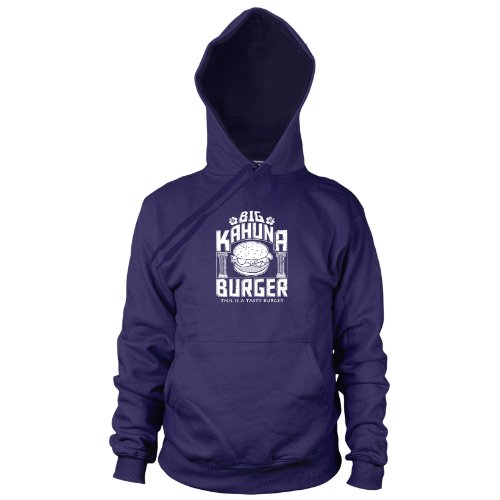 Jules Pulp Fiction Winnfield Kostüm - Big Kahuna Burger - Herren Hooded Sweater, Größe: L, dunkelblau