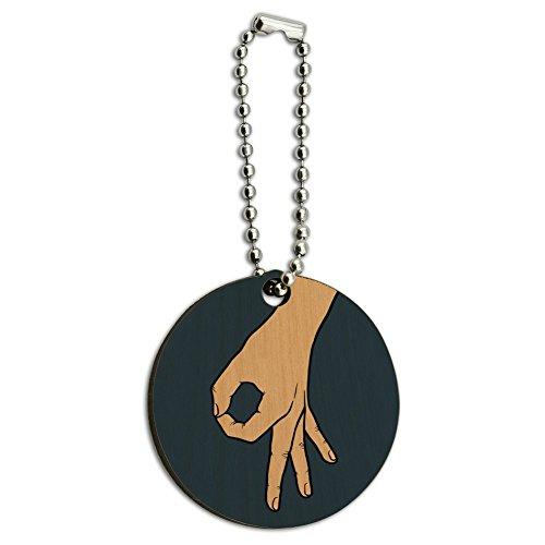 Der Kreis Spiel Holz rund Schlüsselanhänger Ring