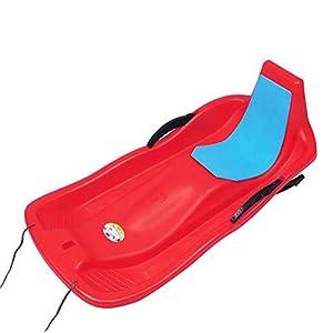 Schnee-Schlitten [Tragbare Durable] Kunststoff-Schnee-Schlitten Rodel Mit Zugseilen Für Kinder Und Erwachsene, Schnee-Schlitten Für Kinder Downhill Schlitten Slippery Racer Schlitten Für Kinder