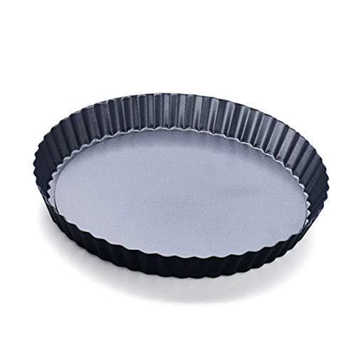 ~ Zinn Tart Pie Pan Geriffelt Kuchen Backblech Antihaft Lose Base Form Werkzeug 9 ''(Nine Inchesblack) - Schwarz, nine inches 9-zoll-brownie Pan