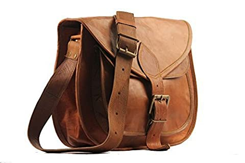 "B&h 13""x10"" Brown Genuine Leather Womens Bag /Hand Bag /Tote/ Purse/ Shopping Bag by Craftmanship"