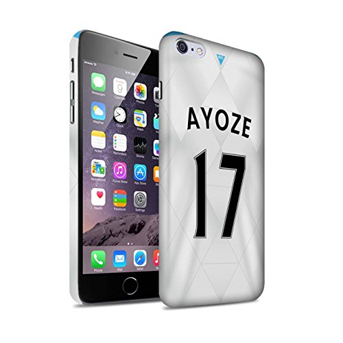 Offiziell Newcastle United FC Hülle / Matte Snap-On Case für Apple iPhone 6+/Plus 5.5 / Pack 29pcs Muster / NUFC Trikot Away 15/16 Kollektion Ayoze