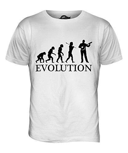 CandyMix Banjo Evolution Des Menschen Herren T Shirt Weiß