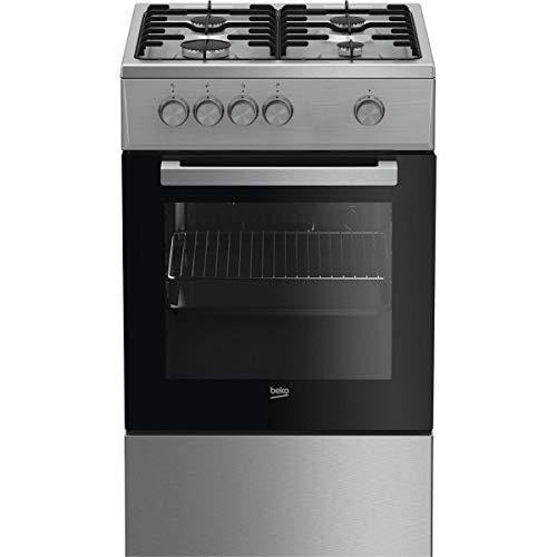 Cuisinière gaz BEKO FSG 52020 DXC - 4 foyers - Gaz - 68L