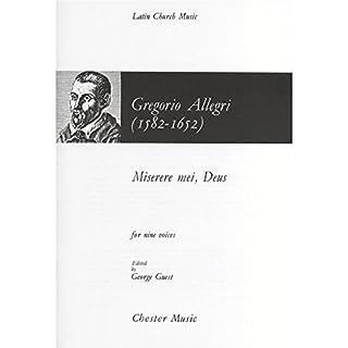 Gregorio Allegri: Miserere Mei, Deus. Sheet Music for SATB, Piano Accompaniment