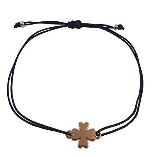 Nilian Bracelet - Filigree Women Bracelets - Perfect as a Gift Kleeblatt  Roségold Schwarz 20810dcb93