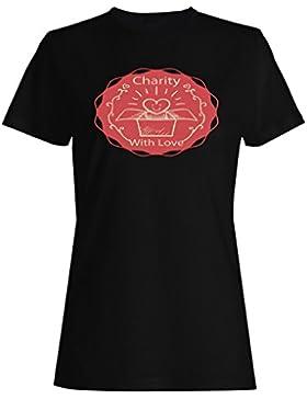 Logotipo De La Insignia Del Cuidado De La Caridad camiseta de las mujeres o455f