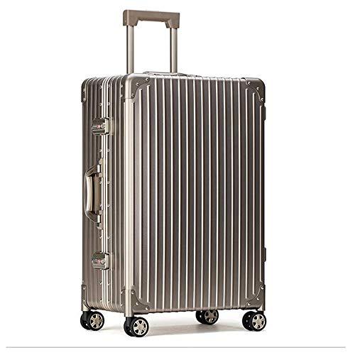 SHJMANSU Handgepäck Hartschalen-Koffer Trolley Handgepäck Gepäck Hartschalen-Reisetasche Leichte 4 Spinner-räder 38 * 23 * 46cm, Champagne Gold -
