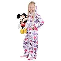 Roaster Toaster Girls Star Print Hooded Fleece All in One Pyjamas PJs Sleepsuit Onesie 4-5 Years