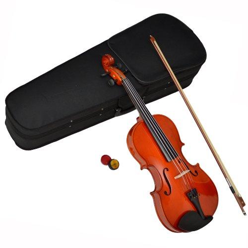 ts-ideen 4401 4/4 Viola Bratsche aus Ahorn in Natur Braun mit Zubehör Set Koffer Bogen und Kolofon