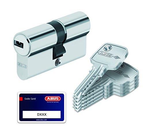 Abus - Cilindro per porta, con serratura con chiave, Argento, 33459