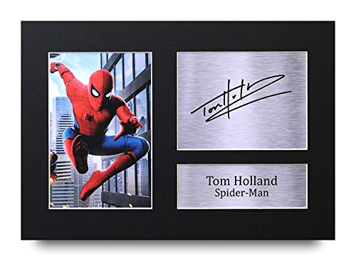 Tom Holland Los Regalos Firmaron A4 Dedicatoria Impresa