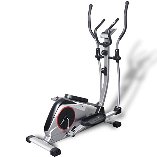 Festnight Elliptical Trainer Exercise Cross Trainer with LCD computer,8-level Manually Controlled Intensity Setting