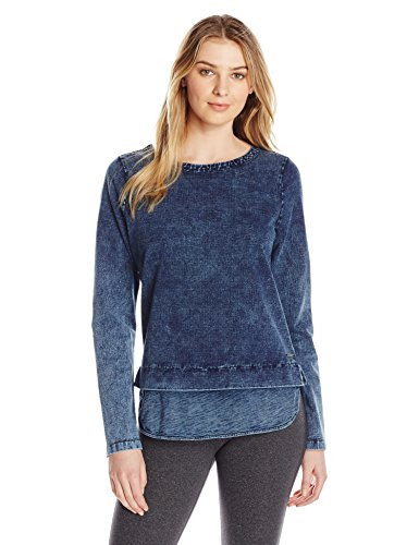 Marc New York Performance Damen L/s 2-fer Boatneck Pullover - Blau - Groß -