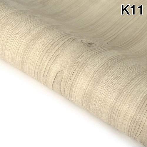 45 cm x 5 mt Wasserdichtes Gewebe PVC Aufkleber Rolle Vinyl Tapete Möbel Holzmaserung Papier Selbstklebende Film Kleiderschrank Tür Aufkleber, K11 45 cm X 5 mt (K11 Film)