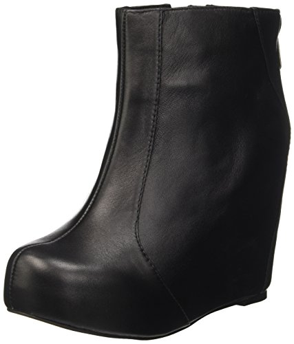 Jeffrey Campbell Pixie, Stivali corti con piattaforma Donna Nero (Leather Black)