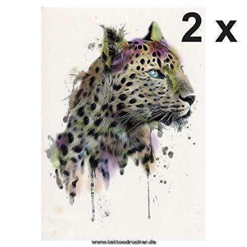 es XL Tattoo - Kopf Wasserfarben - Body Temporary Fake Tattoo - TH097 (2) ()