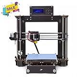 Tigtak 3D Drucker, Wooden (Holz) Prusa I3 Pro W Schreibtisch DIY 3D Drucker Selbstbau-Set Kit 200x200x180 mm Druckraum Cura App Verwenden ABS/PLA 1.75mm