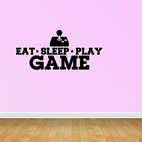 Game Sticker Eat Sleep Play Gamer Calcomanía Gaming