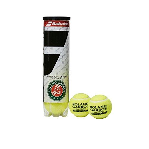 Babolat Balles de Tennis French Open All Court (boîte de 4 balles), Jaune, Taille Unique