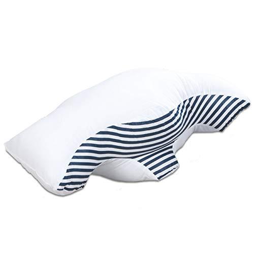 maxVitalis Anti Schnarchkissen, ergonomisches Kissen, Seitenschläferkissen, orthopädisches Nackenstützkissen, gegen Schlafapnoe, Spezialkissen zum schnarchfrei Schlafen, Weiß