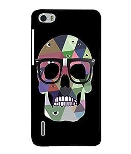 Fuson 3D Printed Skull Designer Back Case Cover for Huawei Honor 6 - D1031