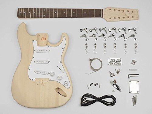 Stratocaster built your own 12 string hardware guitar builder kit new KIT-ST-1012