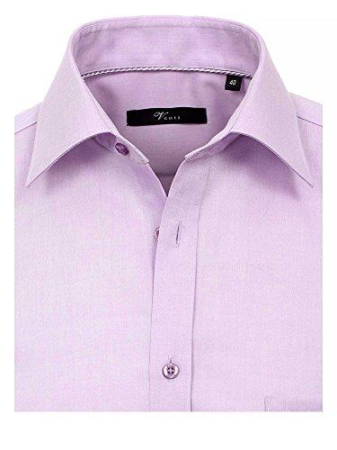 Venti Herren Businesshemd 100% Baumwolle Modern Fit Flieder