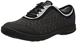 Clarks Womens Dowling Pearl Walking Shoe,Black Synthetic,6.5 W US