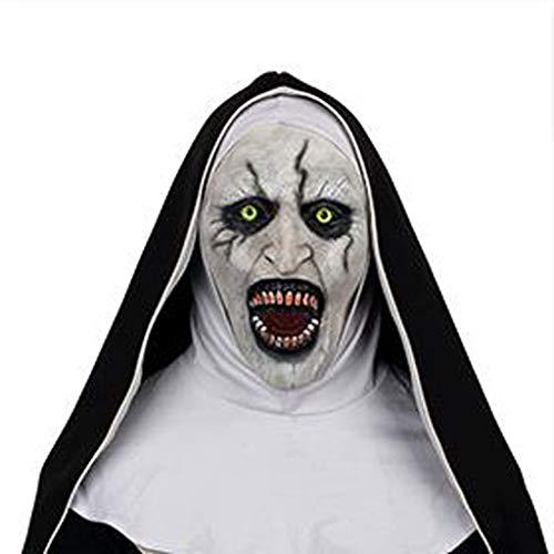 Unbekannt Mask- Horror Nonne Maske Grimasse Latex Halloween Maskerade Kostüm Party Scary Requisiten (Farbe : B)