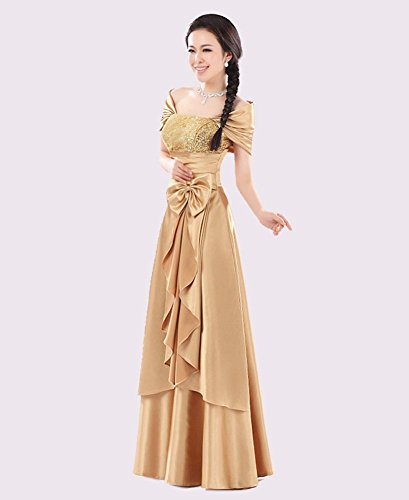 Drasawee Damen Empire Kleid Gold Drasawee Damen Empire Kleid Gold ...