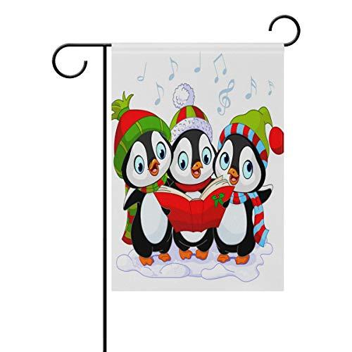 Ahomy Garden Flaggen Weihnachten Pinguin Musik, Polyester, Multi, 28x40inch