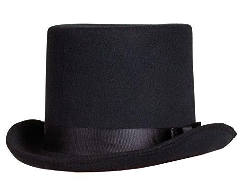 Boland 04213 - Erwachsenenhut Byron, Einheitsgröße, schwarz (Halloween Steampunk Kostüme)