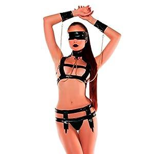 Hansee Frauen Sexy Bandag Leder Unterwäsche, Mode Frauen Nette Sexy Bandag Leder Uniformen Versuchung Sexy Unterwäsche